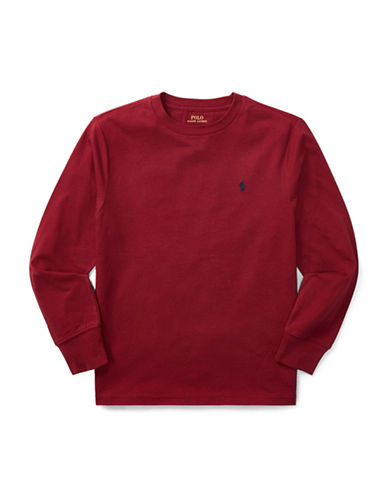 Ralph Lauren Childrenswear Long-Sleeve Cotton Jersey T-Shirt-RED-X-Large