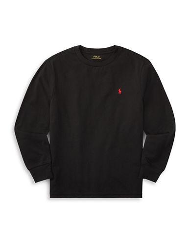 Ralph Lauren Childrenswear Long-Sleeve Cotton Jersey T-Shirt-BLACK-X-Large