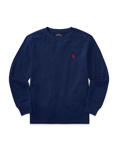 Ralph Lauren Childrenswear Long-Sleeve Cotton Jersey T-Shirt-BLUE-X-Large