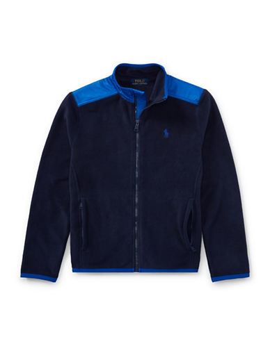 Ralph Lauren Childrenswear Fleece Hybrid Jacket-BLUE-X-Large
