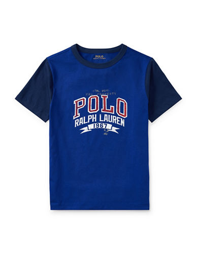 Ralph Lauren Childrenswear Cotton Jersey Ringer T-Shirt-BLUE-Medium