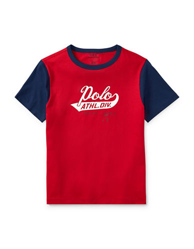 Ralph Lauren Childrenswear Cotton Jersey Ringer T-Shirt-RED-Large