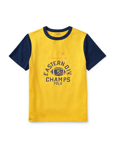 Ralph Lauren Childrenswear Cotton Jersey Ringer T-Shirt-YELLOW-Small