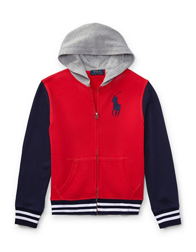 Ralph Lauren Childrenswear Cotton Hooded Jacket-RED-X-Large