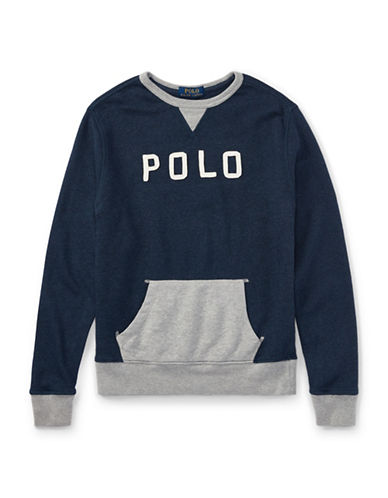 Ralph Lauren Childrenswear Cotton French Terry Sweatshirt-BLUE-Small