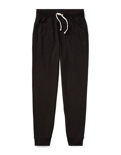 Ralph Lauren Childrenswear Cotton Jersey Jogger Pants-BLACK-Large 89377016_BLACK_Large