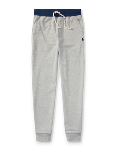 Ralph Lauren Childrenswear Cotton Jersey Jogger Pants-GREY-Medium