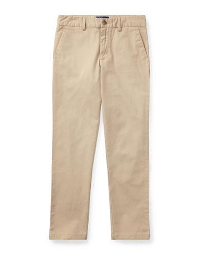 Ralph Lauren Childrenswear Belted Stretch Cotton Chino Pants-BEIGE-8