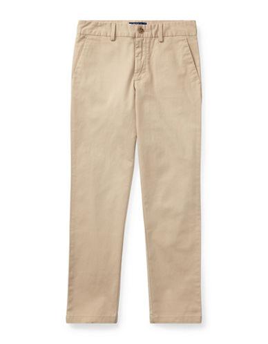 Ralph Lauren Childrenswear Belted Stretch Cotton Chino Pants-BEIGE-16