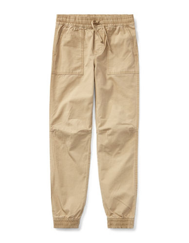 Ralph Lauren Childrenswear Cotton Ripstop Joggers-BEIGE-Large