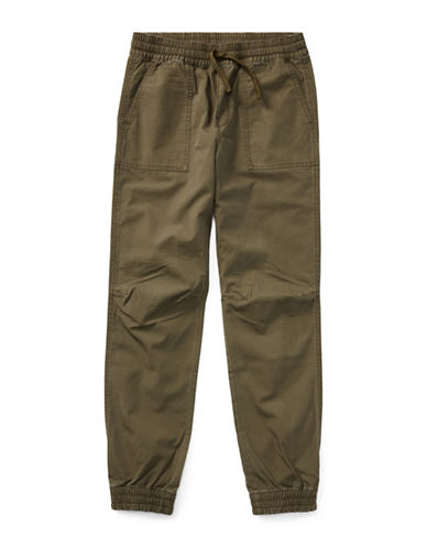 Ralph Lauren Childrenswear Cotton Ripstop Joggers-GREEN-Large