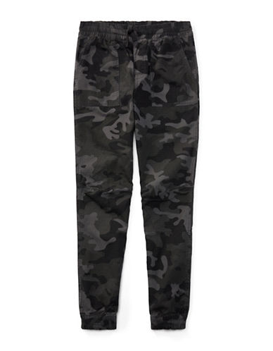 Ralph Lauren Childrenswear Cotton Ripstop Joggers-BLACK-Small