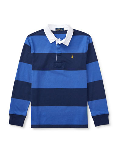 Ralph Lauren Childrenswear Cotton Jersey Rugby Shirt-DARK BLUE-X-Large