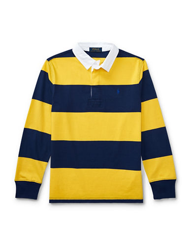 Ralph Lauren Childrenswear Cotton Jersey Rugby Shirt-YELLOW-Small