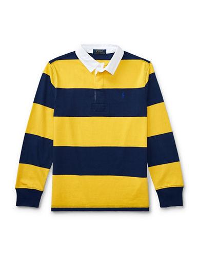 Ralph Lauren Childrenswear Cotton Jersey Rugby Shirt-YELLOW-Large
