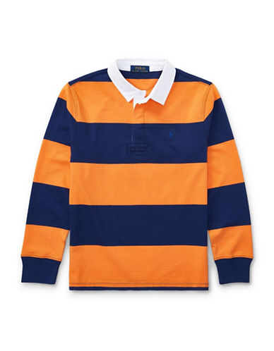 Ralph Lauren Childrenswear Cotton Jersey Rugby Shirt-ORANGE-Large