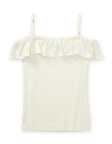 Ralph Lauren Childrenswear Ruffled Off-the-Shoulder Top-NEVIS-XLarge