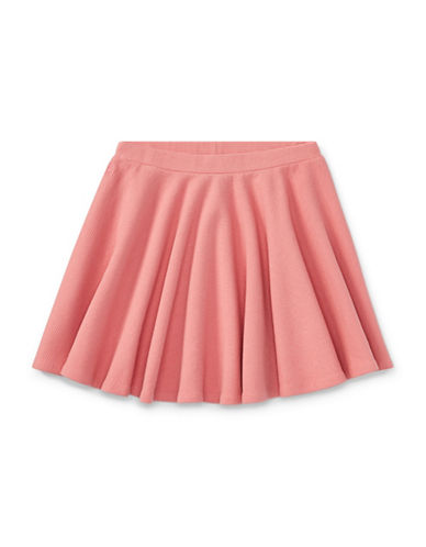 Ralph Lauren Childrenswear Ribbed Circle Skirt-PINK-X-Large
