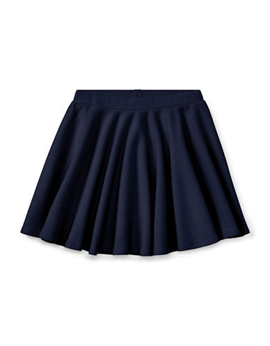 Ralph Lauren Childrenswear Ribbed Circle Skirt-BLUE-Medium