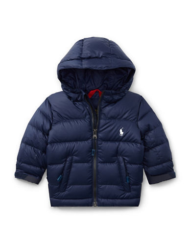 Ralph Lauren Childrenswear Ripstop Down Puffer Jacket-NAVY-3 Months