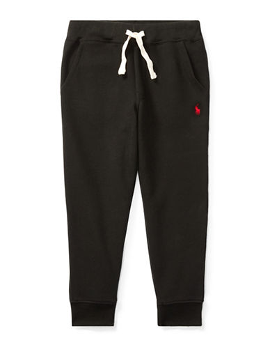 Ralph Lauren Childrenswear Fleece Jogger Pants-BLACK-2T