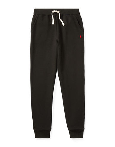 Ralph Lauren Childrenswear Fleece Jogger Pants-BLACK-Medium