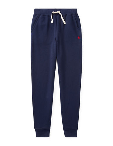 Ralph Lauren Childrenswear Fleece Jogger Pants-BLUE-Small
