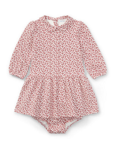 Ralph Lauren Childrenswear Cotton Floral Dress and Bloomer Two-Piece Set-PINK-9 Months