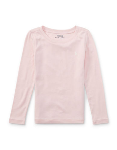 Ralph Lauren Childrenswear Long Sleeve T-Shirt-PINK-3