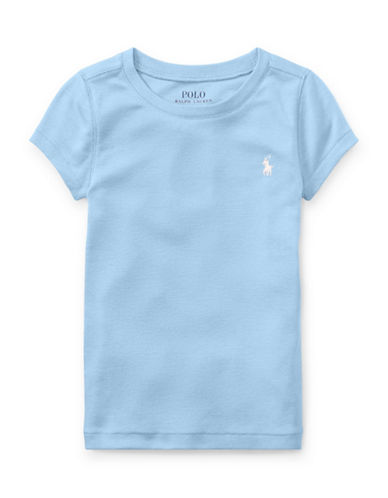 Ralph Lauren Childrenswear Crew Neck Jersey Tee-BLUE-3