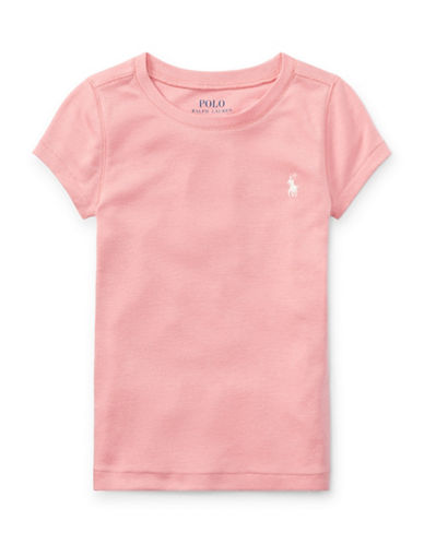 Ralph Lauren Childrenswear Crew Neck Jersey Tee-PINK-4