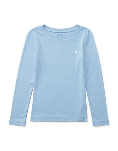 Ralph Lauren Childrenswear Long-Sleeve Tee-BLUE-2