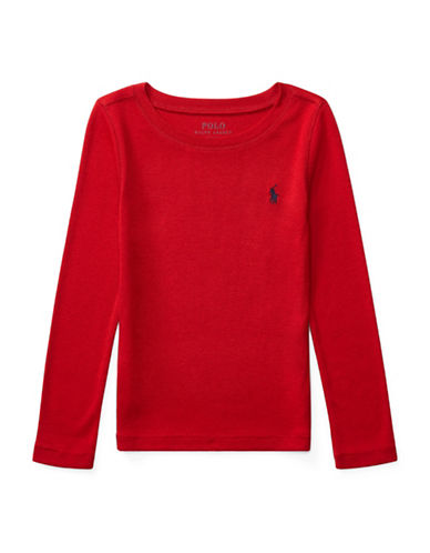 Ralph Lauren Childrenswear Cotton-Blend Shirt-RED-2