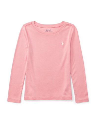 Ralph Lauren Childrenswear Long-Sleeve Tee-PINK-2