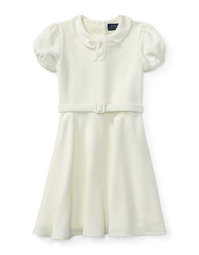 Ralph Lauren Childrenswear Belted Fit-and-Flare Dress-NATURAL-3