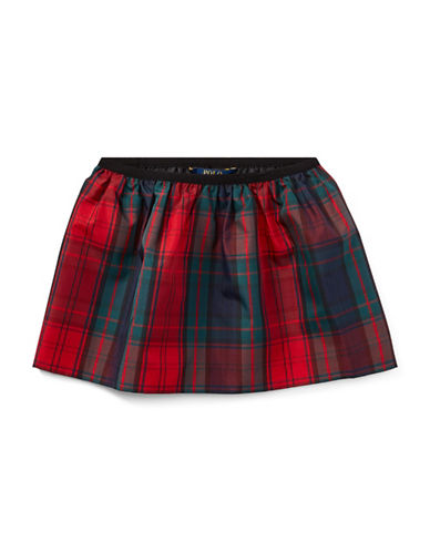 Ralph Lauren Childrenswear Plaid Print Skirt-BLUE-4