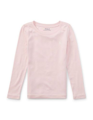 Ralph Lauren Childrenswear Pony Long-Sleeved Tee-PINK-6X