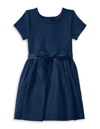 Ralph Lauren Childrenswear Fit-and-Flare Dress and Bloomer-BLUE-4