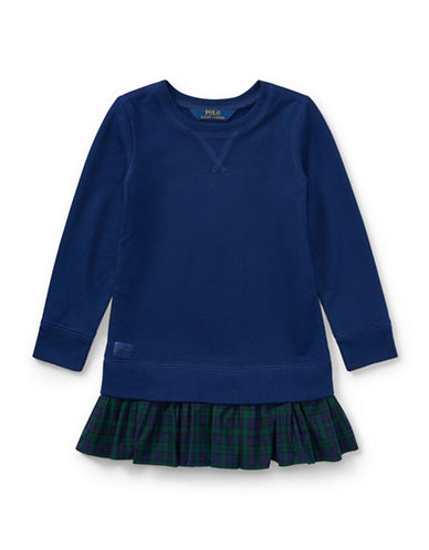 Ralph Lauren Childrenswear Atlantic Fleece Sweatshirt Dress-BLUE-2