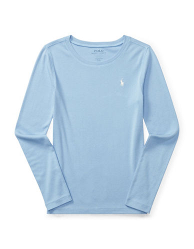 Ralph Lauren Childrenswear Pima Crew Neck Tee-BLUE-XLarge