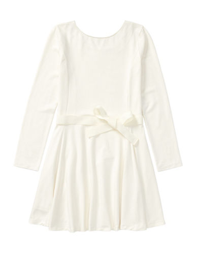 Ralph Lauren Childrenswear Belted Jersey Dress-WHITE-XLarge