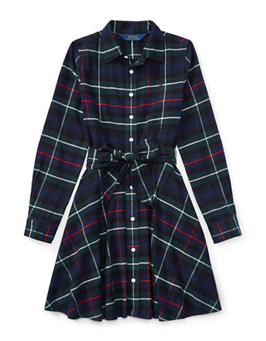 Ralph Lauren Childrenswear Tartan Flannel Cotton Dress-ASSORTED-14