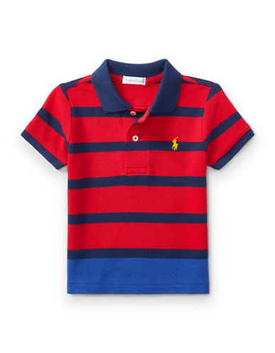Ralph Lauren Childrenswear Striped Polo-RED-9 Months
