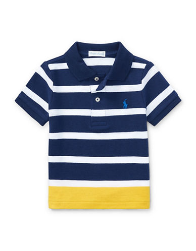 Ralph Lauren Childrenswear Striped Polo-BLUE-9 Months