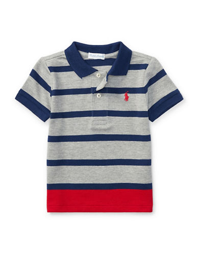 Ralph Lauren Childrenswear Striped Polo-GREY-18 Months