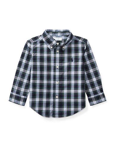 Ralph Lauren Childrenswear Plaid Cotton Poplin Shirt-WHITE-6 Months
