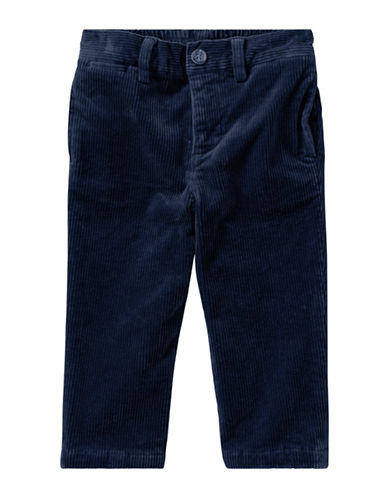 Ralph Lauren Childrenswear Stretch Cotton Corduroy Pants-BLUE-9 Months