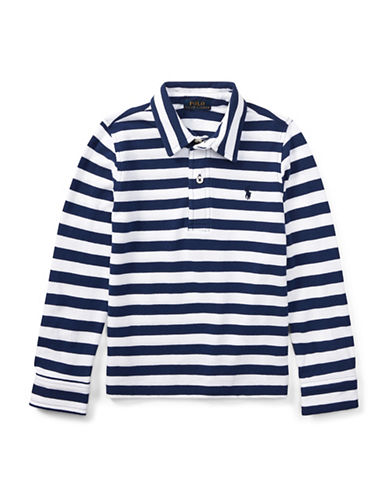 Ralph Lauren Childrenswear Featherweight Cotton Polo-BLUE-3