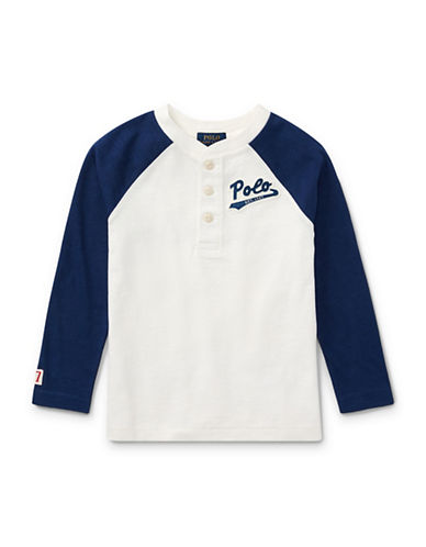 Ralph Lauren Childrenswear Boys Cotton Jersey Baseball Henley-NATURAL-3