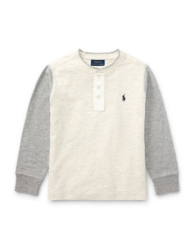 Ralph Lauren Childrenswear Boys Slub Cotton Jersey Henley-WHITE-4